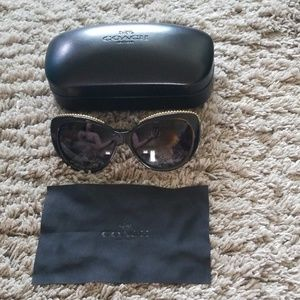 Coach sunglasses, black cat-eye